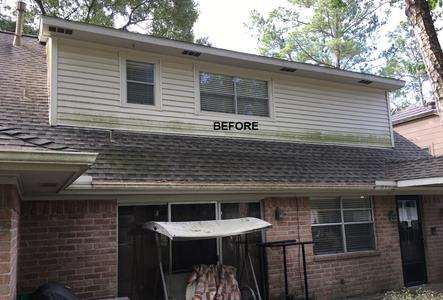 exterior house washing siding in Spring Texas before