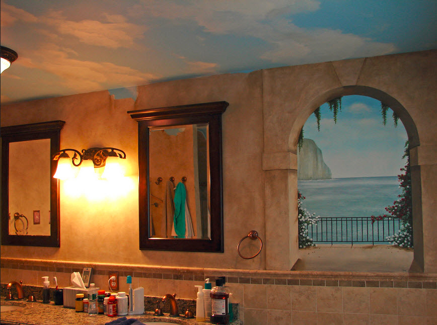 Faux Painting Ideas For Bathroom Bathroom Wall Faux Painting 31 With Bathroom Wall Faux Painting Things You Should Know About Faux Painting Techniques With A Beautiful Faux Painting Awesome Ideas Awesome Faux