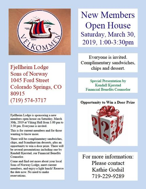 2019 New Members Open House