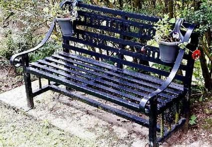 Metal Bench by SRG in Bury