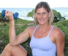 Theresa Felgate provides personal training on Maui.