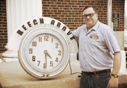 Tim with Cleveland Neon Clock
