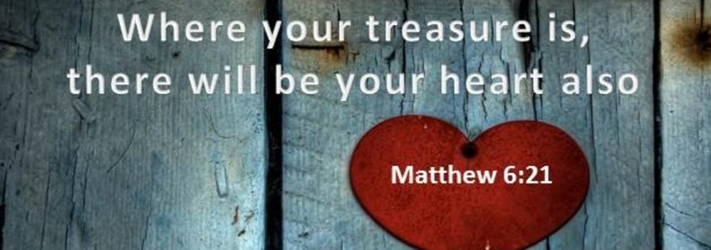 where your treasure is, so is your heart image