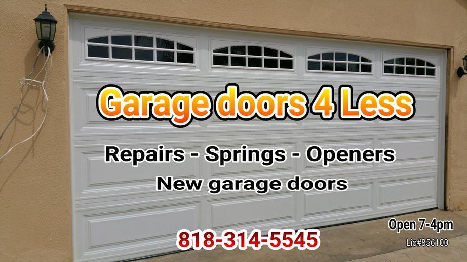 Garage doors 4 less home page for Garage door repair agoura hills