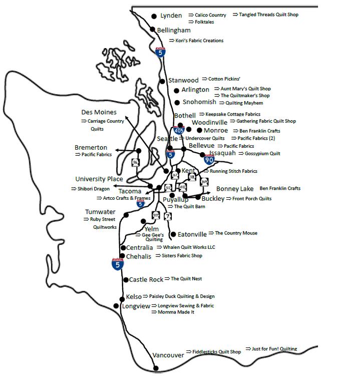 Shop Hop Map