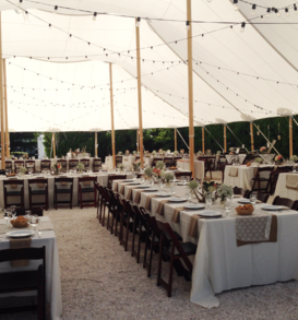Sail cloth tents filter the sun for your Boca Grande wedding