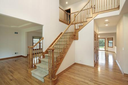 solid hard wood floor remodel stairs living room