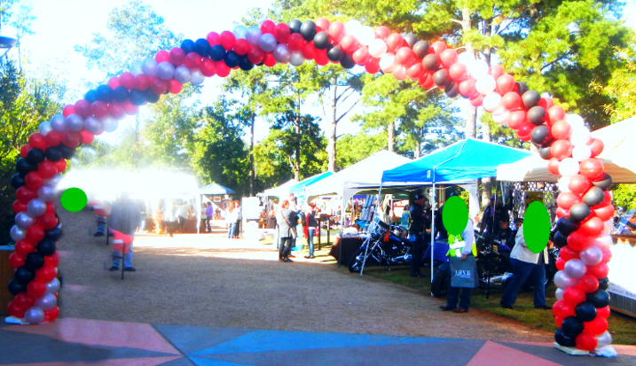 event balloon entrance arch