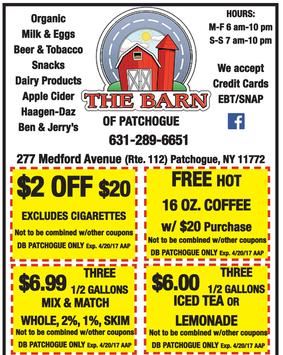 Dairy Barn of Patchogue Coupons