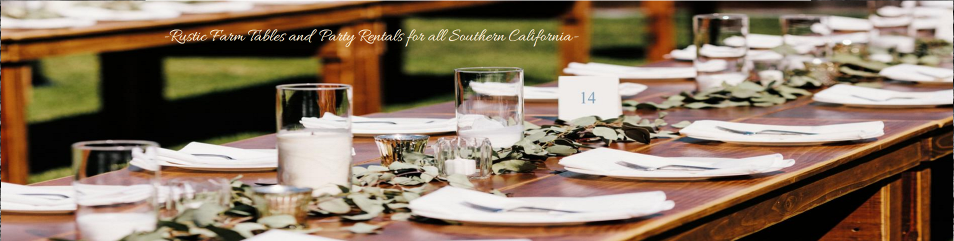 Rustic farm tables for all Southern California and Orange County weddings