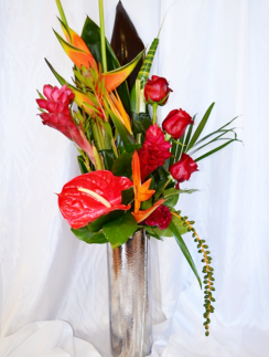 Exotic Bouquet with Bird of Paradise & Ginger Lily | The Little Flowershop Florist