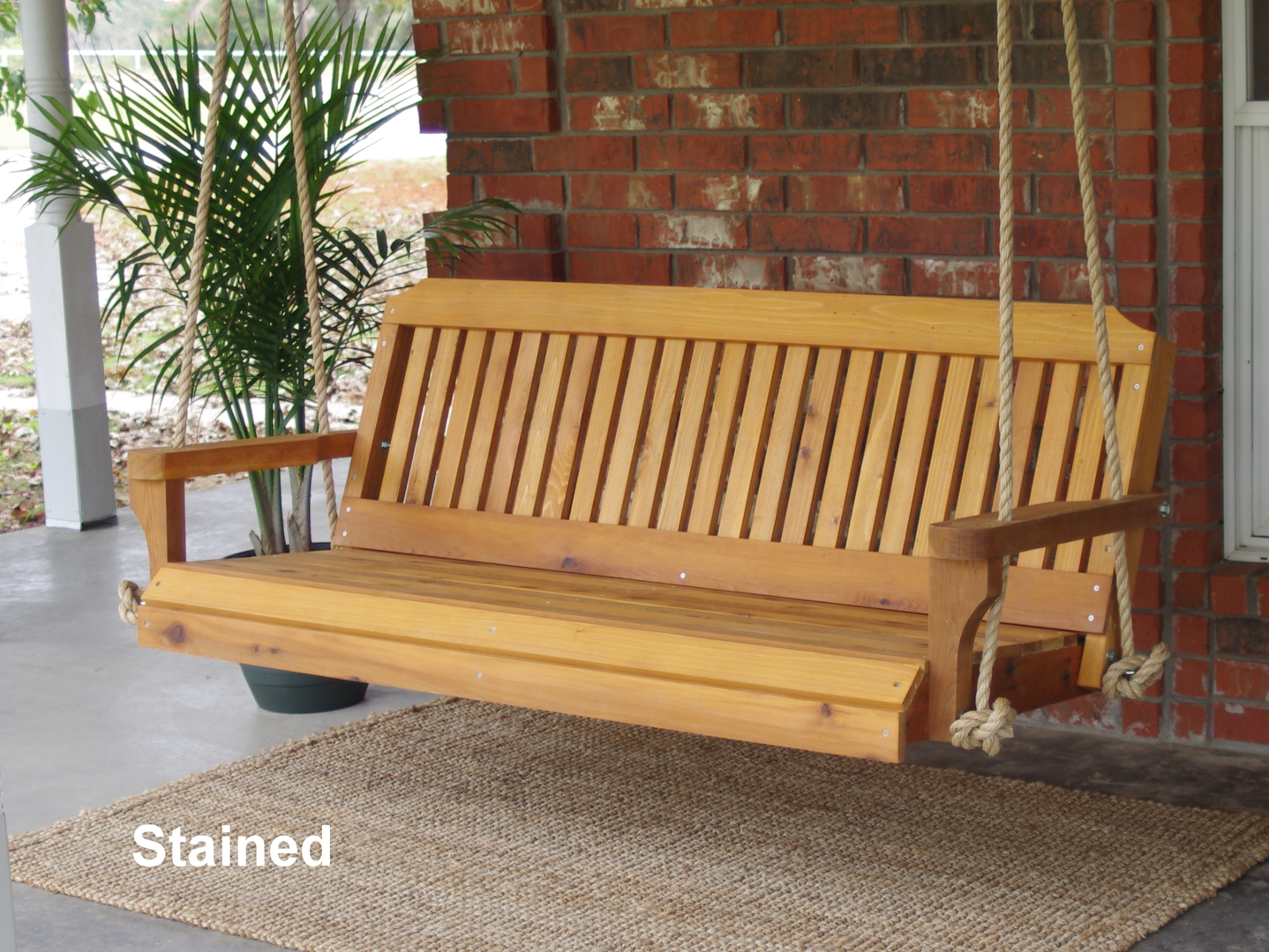 teak swinging hardware canopy porch swing westminster with furniture bench pin outdoor veranda