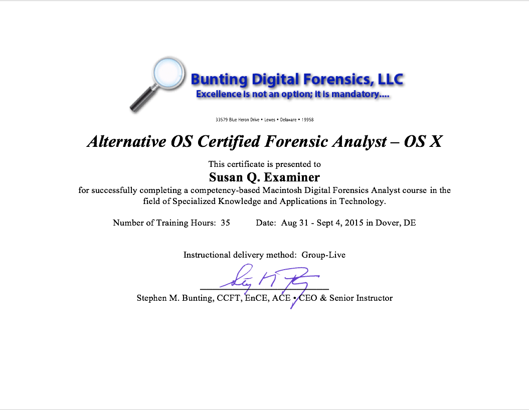 Instructional Services Bunting Digital Forensics