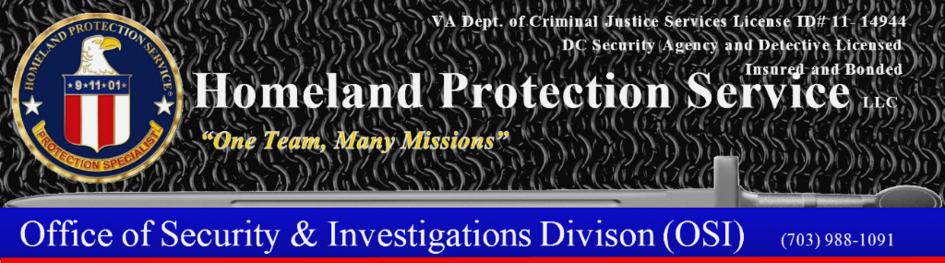 Email Homeland Protection Service or Call (703)988-1091