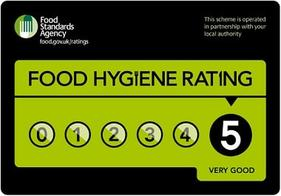Food Hygiene rating 5 star Bury MBC