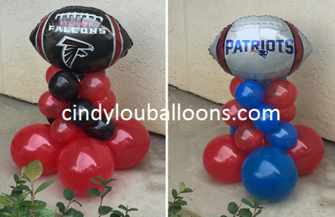 Super Bowl Centerpieces - 2017