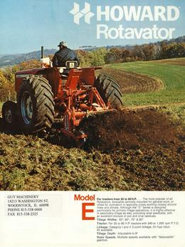 Howard Rotavator Model E Brochure