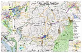 Blue Mountain Region Trails Overview Map