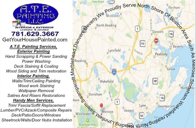 A.T.E. Painting Serving north shore area towns