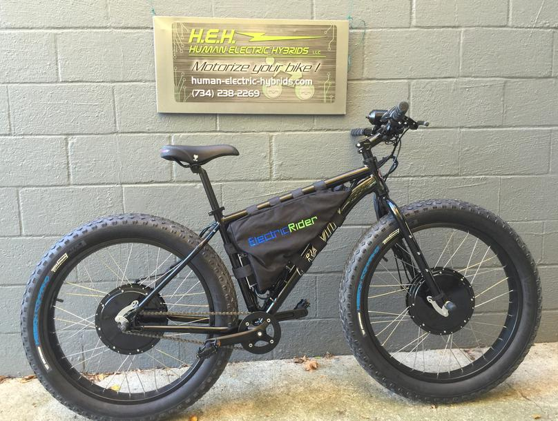 Electric Bike Electric Fat Bike 2 wheel drive