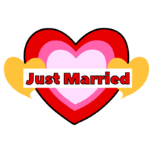 Just Married Sticker