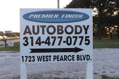 Premier Finish Autobody Business sign