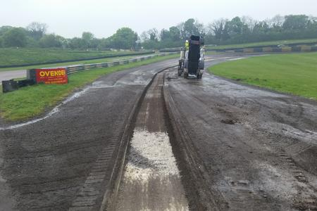 Lydden Hill Rallycross FIA, tarmac chippings