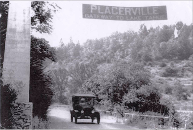 Old Placerville Gateway to Lake Tahoe Welcome Sign Community Pride Volunteers Archives Josette Johnson http://www.josettejohnson.com