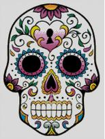 Cross Stitch Chart of Sugar Skull No 01