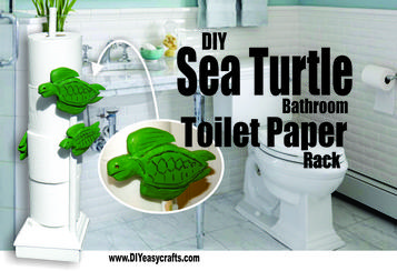 DIY Nautical Decor Sea Turtle bathroom toilet paper rack. www.DIYeasycrafts.com