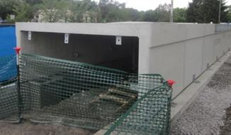 new train car entrance ramp