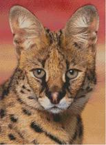 Cross Stitch Chart Pattern of a Serval
