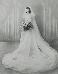 Lucy on her wedding day.