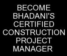 BHADANIS CONSTRUCTION PROJECT MANAGEMENT COURSE IN DELHI INDIA KOLKATA UTTAR PRADESH
