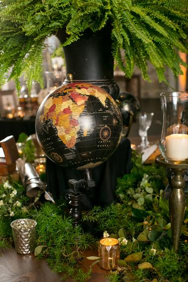 Globe as wedding decor in Minnesota