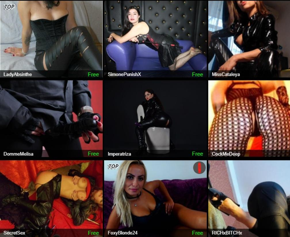 dominatrix cams, bdsm chat