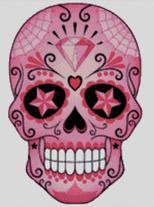 Cross Stitch Chart of Sugar Skull No 25