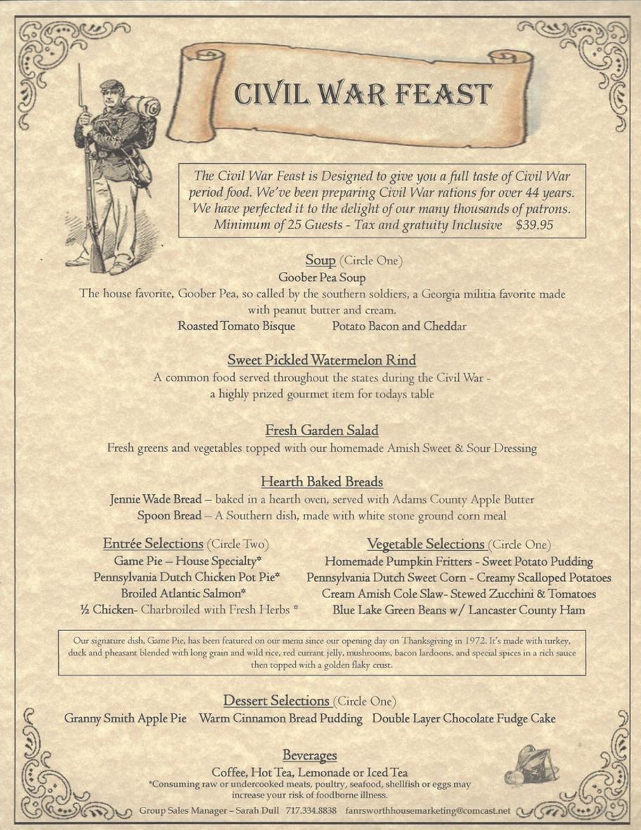 Civil War Feast