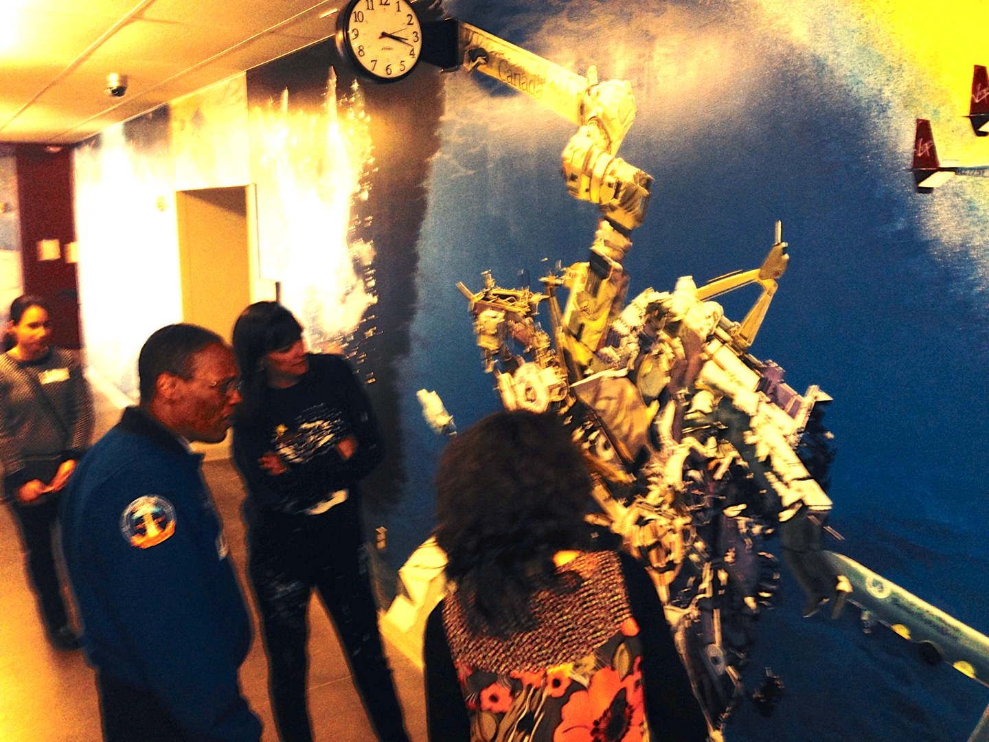 wall murals of space al talks about his adventures in space and on the arm of the space station