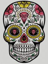Cross Stitch Chart of Sugar Skull No 06