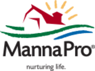 Manna Pro logo provides chicken, horse and cattle products