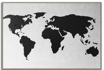 THE WORLD « Map » Acrylic Art Painting
