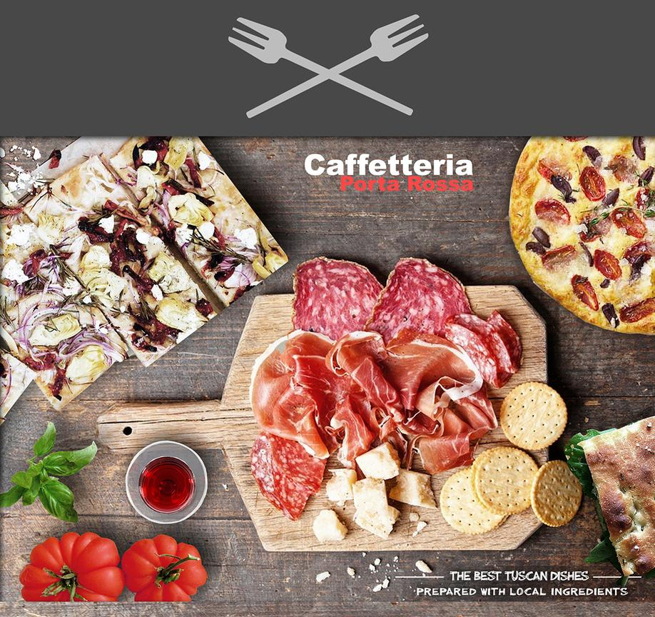 CAFFETTERIA PORTA ROSSA MENU GRAFICA STREET FOOD MODELLAZIONE 3D MODEL DESIGN PROJECT DESIGN107