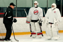 Damian Rhodes and Ron Veit of All Pro Goalie Schools