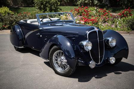 1936 Delahaye 135 Competition Disappearing Top Convertible Figoni-Falaschi for sale San Diego California