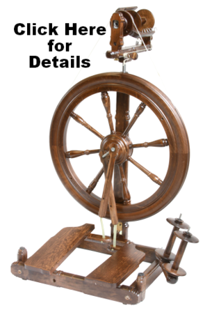 We carry the Kromski Sonata Spinning Wheel in stock and ready to try and take home. For sale in Michigan.