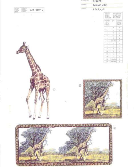 Girafe Animal ceramic transfer by Calcodecal