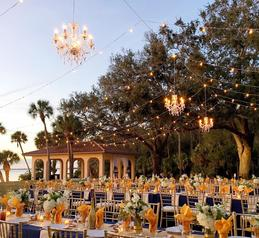 Powe Crosley outdoor wedding reception by Sarasota Wedding Gallery