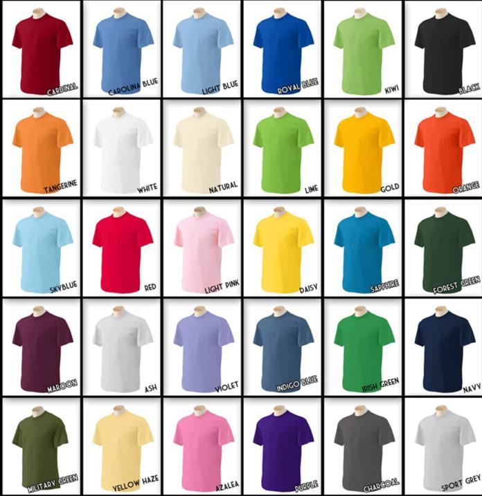 inkdogg custom t shirt colors