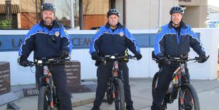 security guards on bicycles